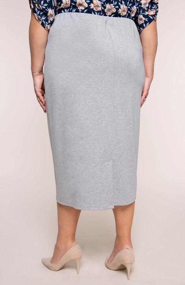 Dłuższa elegancka jasnoszara spódnica