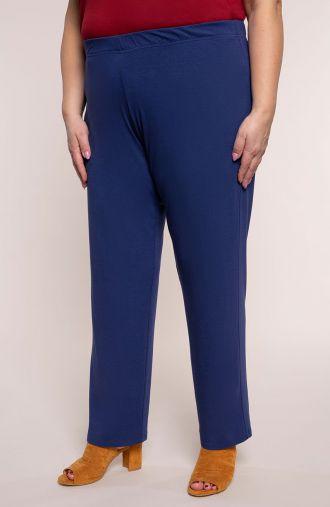 Klasyczne spodnie w kobaltowym kolorze