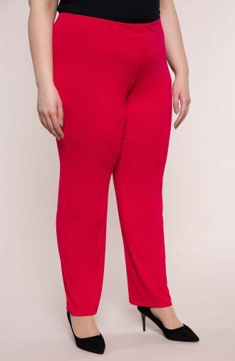 Klasyczne spodnie w rubinowym kolorze