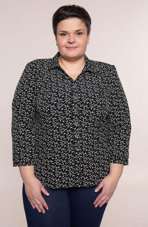Czarna koszula w białe literki