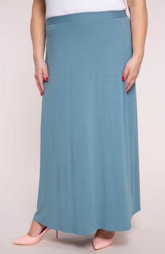 Spódnica maxi w błękitnym kolorze