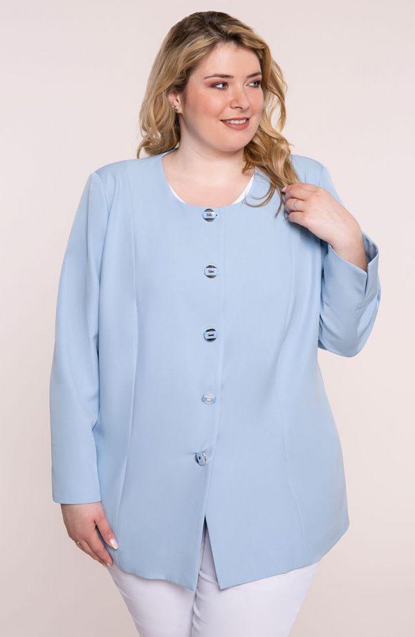 Lekki elegancki żakiet w kolorze błękitu