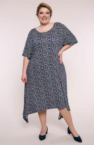 Sukienka z długimi bokami słoneczna łąka