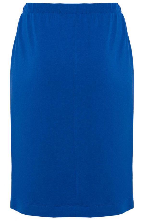 Chabrowa sportowa spódnica z lamówką