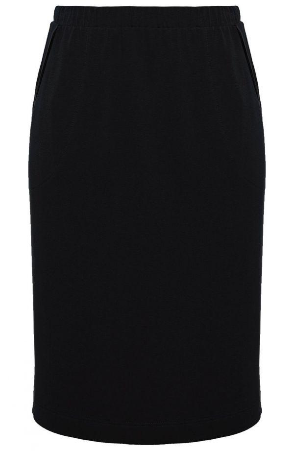 Czarna sportowa spódnica z lamówką