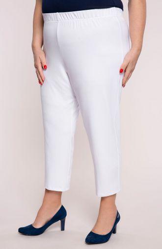 Wiskozowe legginsy 7/8 w białym kolorze