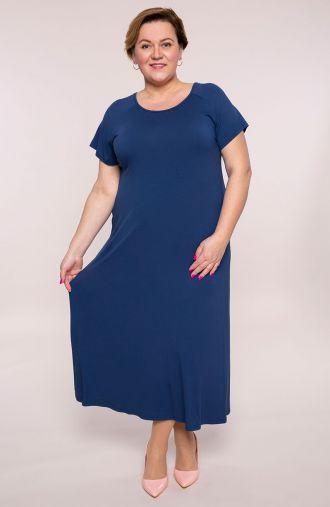 Długa sukienka w niebieskim kolorze