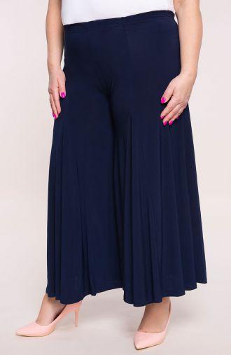 Granatowe spódnico-spodnie