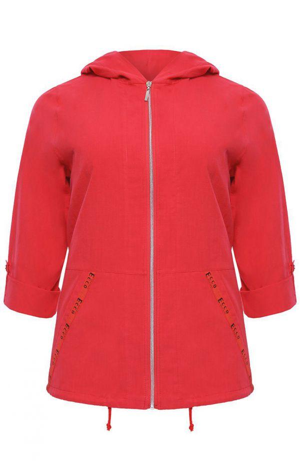 Czerwona bawełniana bluza z kapturem