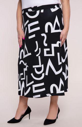 Dzianinowa spódnica antyczny alfabet