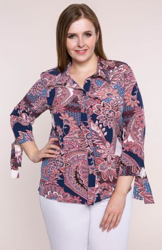 Elegancka koszula w orientalne ornamenty