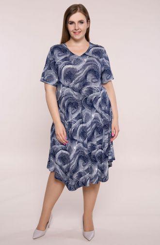 Sukienka z odciętą talią fale oceanu