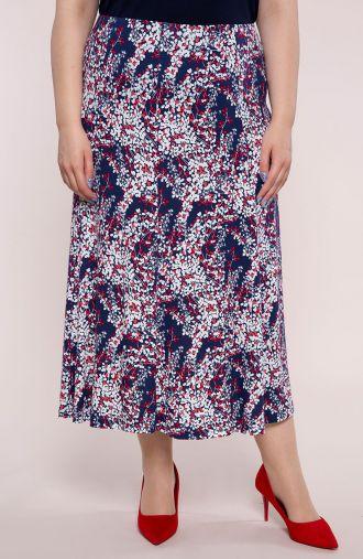 Rozkloszowana spódnica wiosenne gałązki