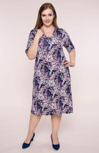 Półdługa sukienka wiosenne gałązki