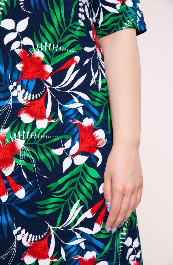 Półdługa sukienka tropikalny sen