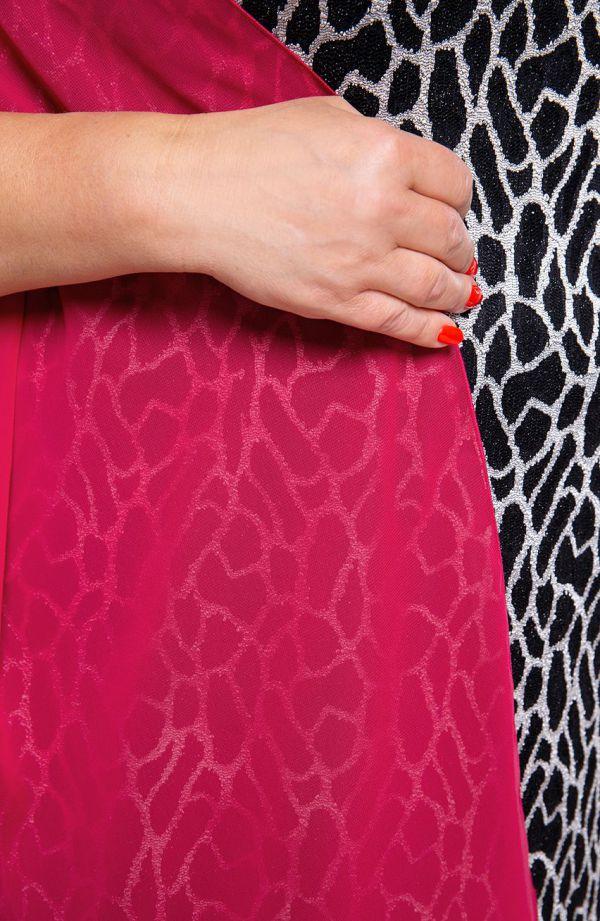 Wizytowy szal w kolorze amarantowym 47x210