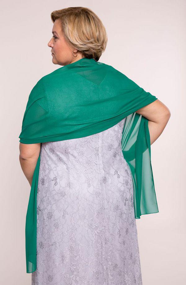 Wizytowy szal w kolorze zieleni 47x210