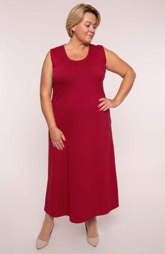 Sukienka maxi w kolorze czerwonego wina
