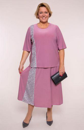 Komplet ze spódnicą we wrzosowym kolorze