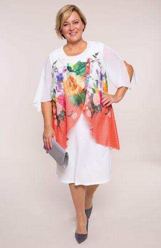 Dwuczęściowa sukienka kwiecista rabata