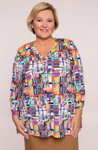 Bluzka koszulowa w kolorową krateczkę