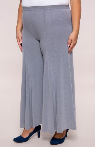 Szare spódnico-spodnie