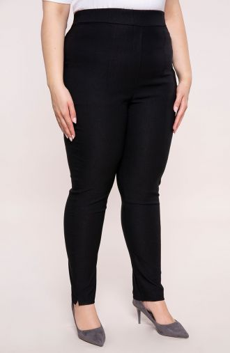 Czarne spodnie z bardzo wysokim stanem