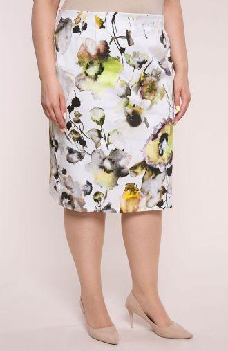 Elegancka spódnica zielona łąka