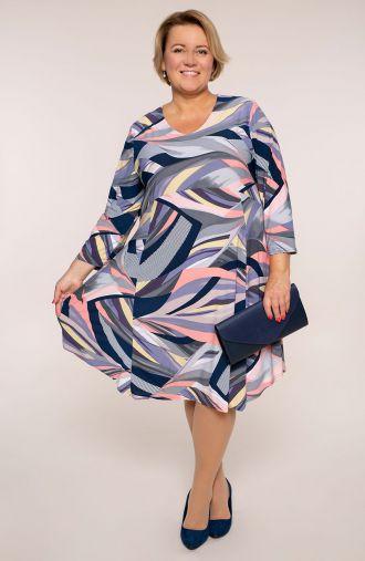 Sukienka z odcięciem pastelowy twist