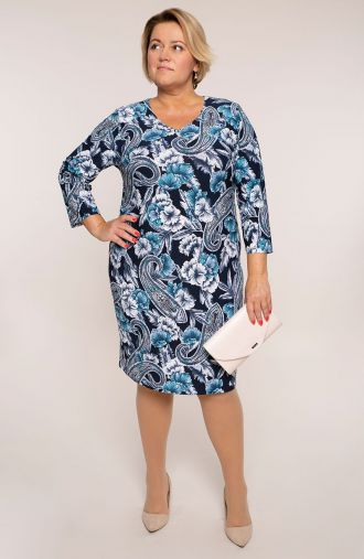 Sukienka z rękawem 3/4 indyjski ocean