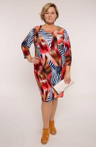 Sukienka z rękawem 3/4 ognista zebra