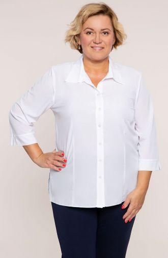 Biała elegancka koszula z kołnierzykiem