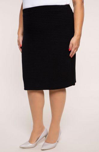 Elegancka czarna spódnica w prążki