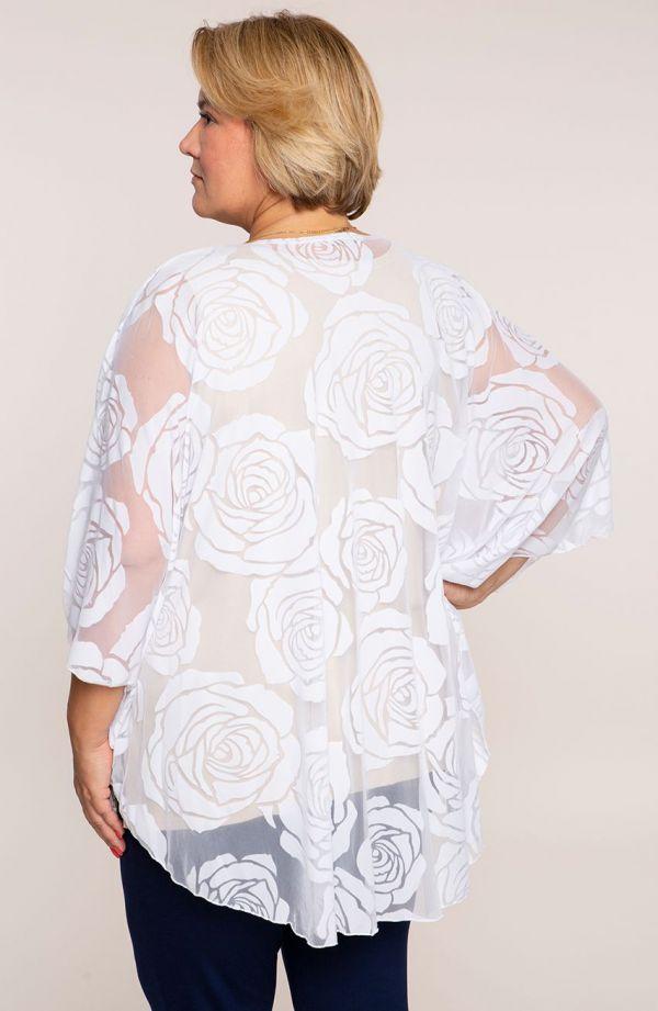 Białe ponczo róże