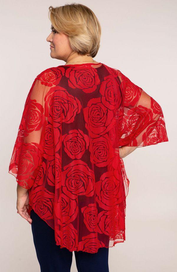 Czerwone ponczo róże