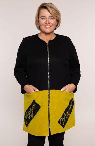 Przejściowy płaszczyk z żółtym dołem