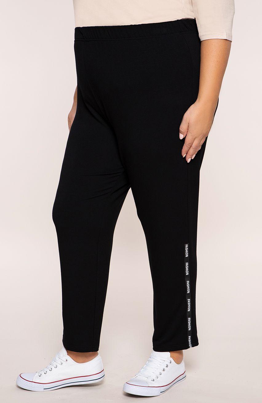 Czarne spodnie dresowe z napisami