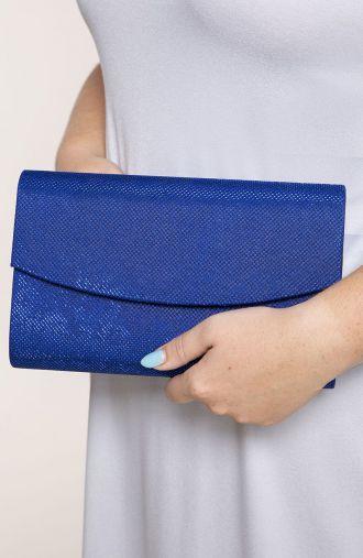 Niebieska kopertówka z blaskiem