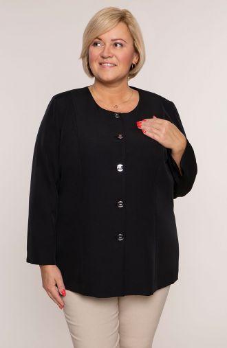 Lekki elegancki żakiet w czarnym kolorze