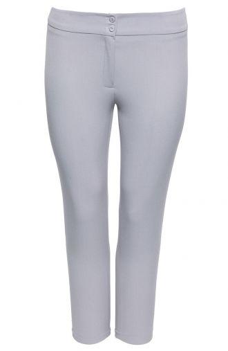 Szare eleganckie spodnie cygaretki