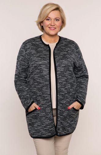 Sweter wdzianko szary melanż