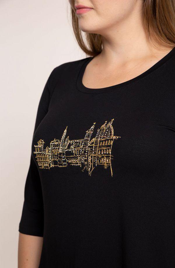 Długa bokami tunika złote miasto