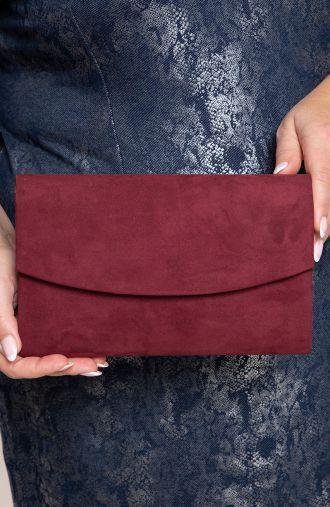 Elegancka kopertówka w bordowym kolorze