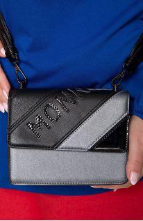 Mała szara torebka z napisem monnari