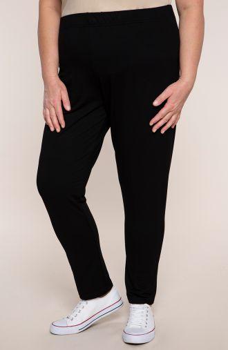Czarne spodnie dresowe z wiskozy