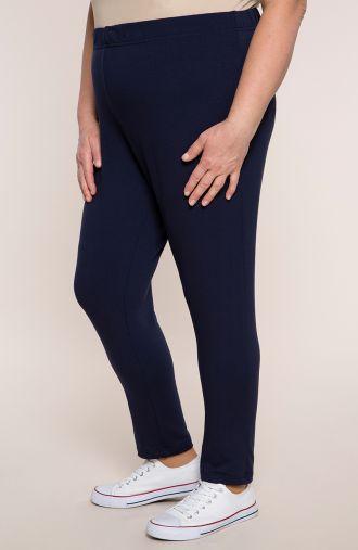 Granatowe spodnie dresowe z wiskozy