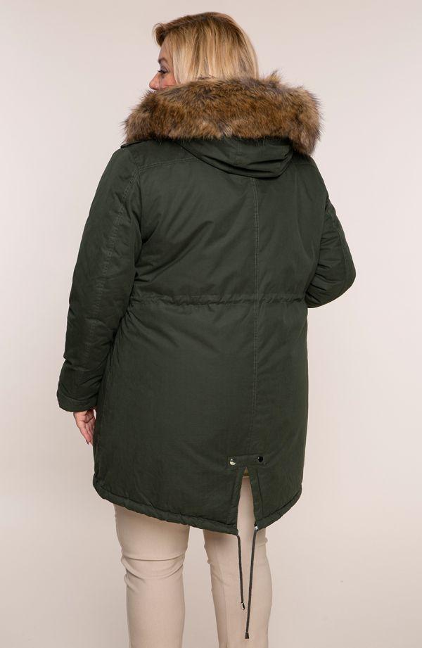 Khaki kurtka zimowa parka