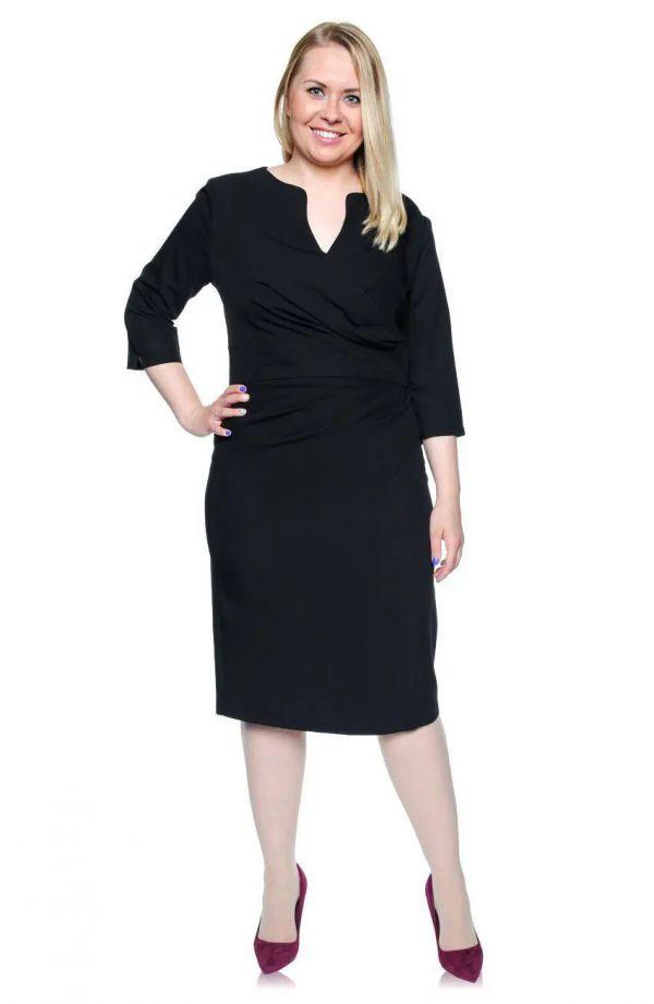 Kopertowa czarna sukienka