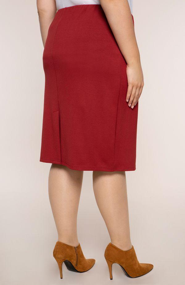 Klasyczna prosta bordowa spódnica