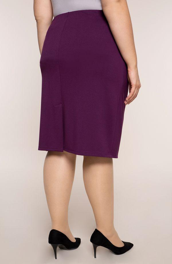 Klasyczna prosta fioletowa spódnica
